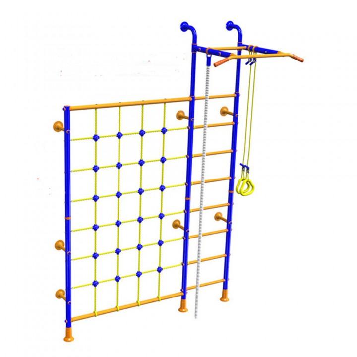 Детский спортивный комплекс Вереск SOLID с сеткой для лазания LINE-CENTER PLUS