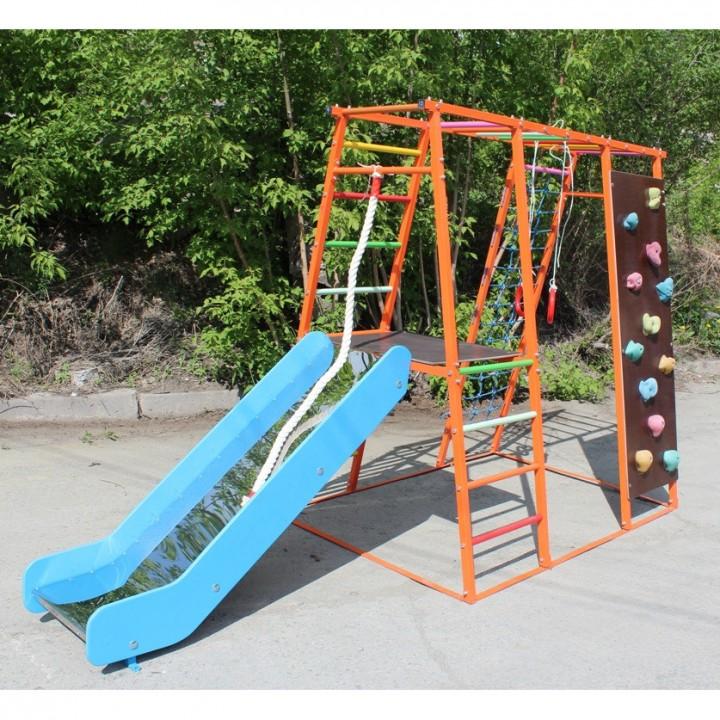 Детский спортивный комплекс Plastep Богатырь 170 М с горкой нержавейка