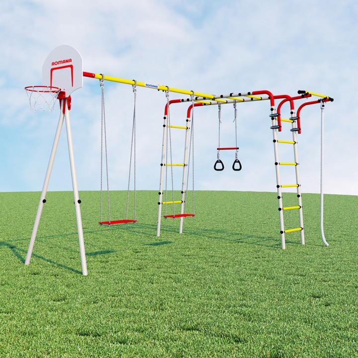 Детский спортивный комплекс для дачи ROMANA Акробат-2 качели фанерные
