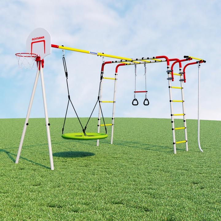 Детский спортивный комплекс для дачи ROMANA Акробат-2 качели гнездо