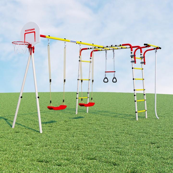 Детский спортивный комплекс для дачи ROMANA Акробат-2 качели пластиковые