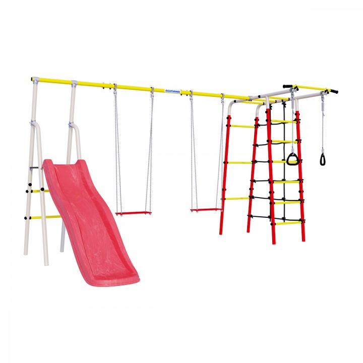 Детский спортивный комплекс для дачи ROMANA Богатырь Плюс-2 качели фанерные