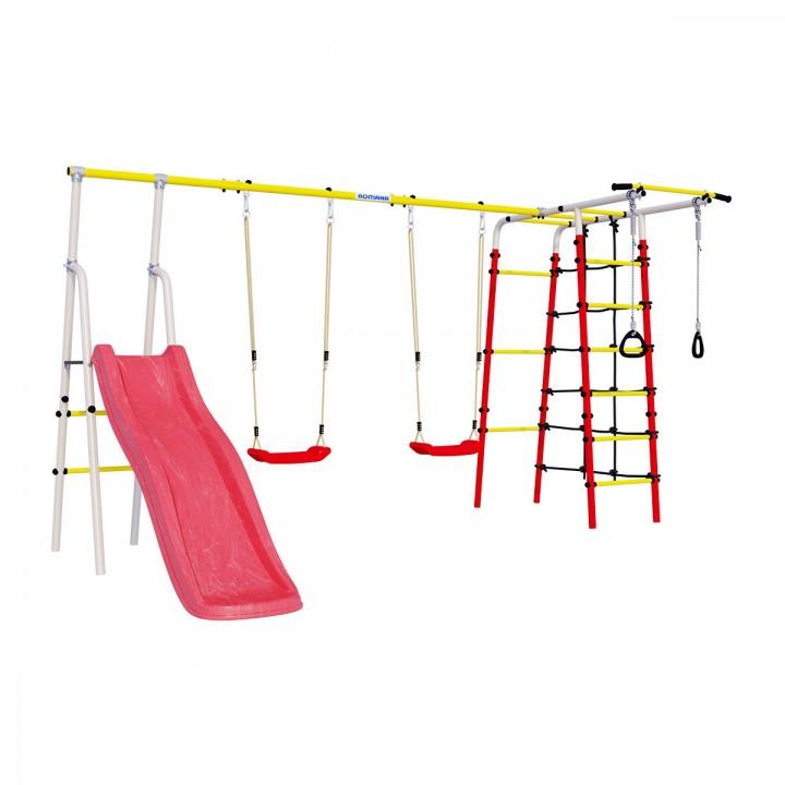 Детский спортивный комплекс для дачи ROMANA Богатырь Плюс-2 качели пластиковые