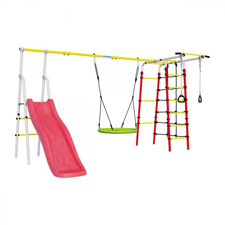 Детский спортивный комплекс для дачи ROMANA Богатырь Плюс-2 качели гнездо