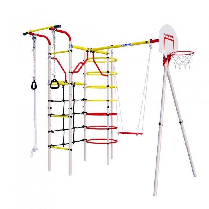 Детский спортивный комплекс для дачи ROMANA Космодром качели фанерные