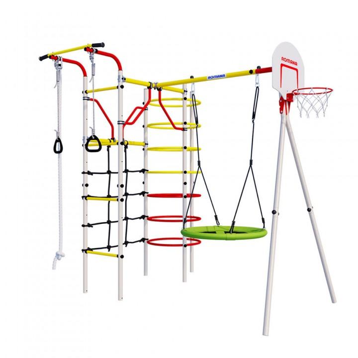 Детский спортивный комплекс для дачи ROMANA Космодром качели гнездо
