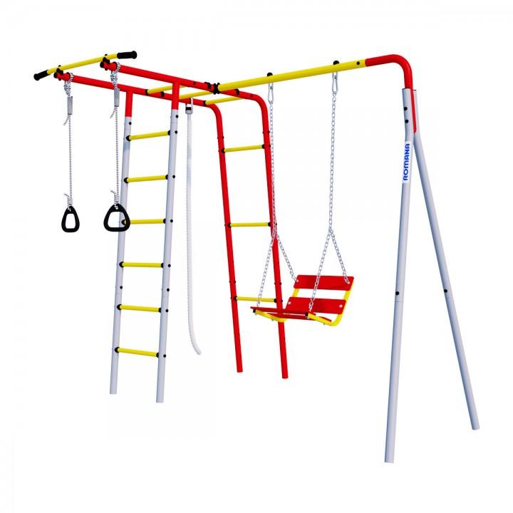 Детский спортивный комплекс для дачи ROMANA Лесная поляна-3 качели цепные