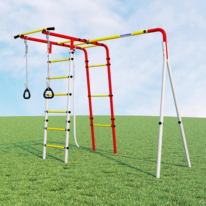 Детский спортивный комплекс для дачи ROMANA Лесная поляна-3 без качелей