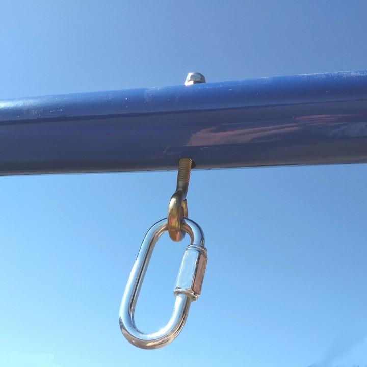 Болт с кольцом для подвеса и карабин винтовой 8 мм