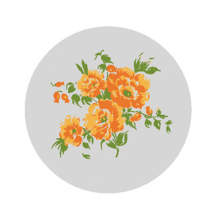 """Светоотражающий значок """"Оранжевые цветы"""""""