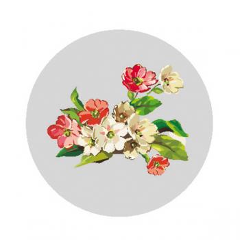 """Светоотражающий значок """"Красные цветы"""""""