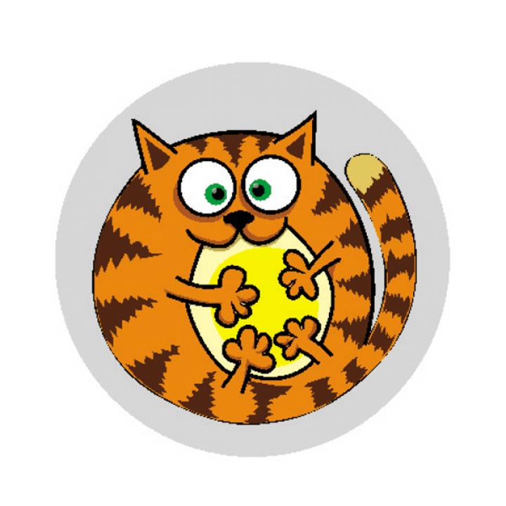 "Светоотражающий значок ""Рыжий кот"""