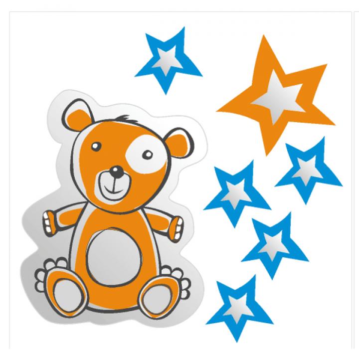 """Набор светоотражающих наклеек """"Медведь"""""""