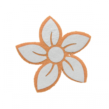 """Светоотражающая подвеска """"Цветок"""" (оранжевый контур)"""