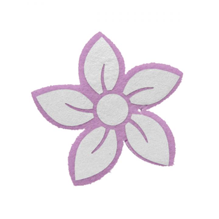 """Светоотражающая подвеска """"Цветок"""" (розовый контур)"""