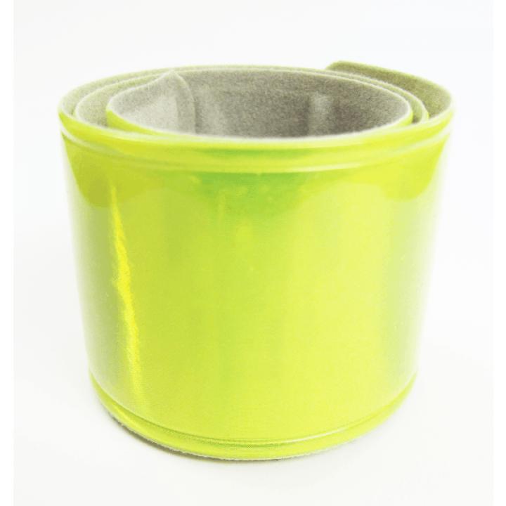 Светоотражающий самофиксирующийся браслет желто-лимонный