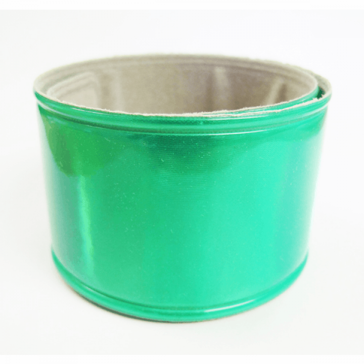 Светоотражающий самофиксирующийся браслет зеленый