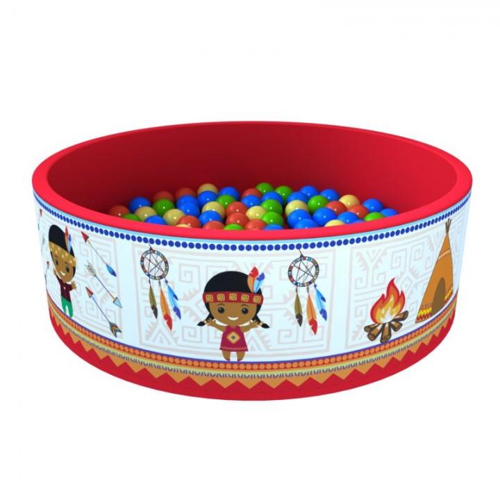 Сухой бассейн ROMANA Индейцы 100 шариков
