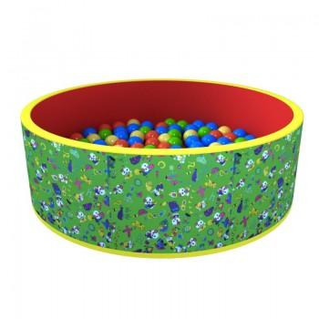 Сухой бассейн ROMANA Веселая поляна зел-кр 100 шариков