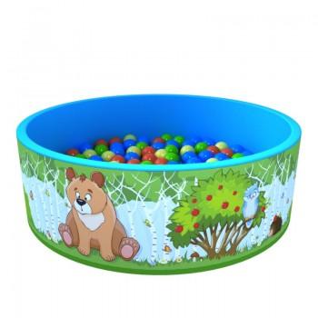 Сухой бассейн ROMANA Зверята 100 шариков