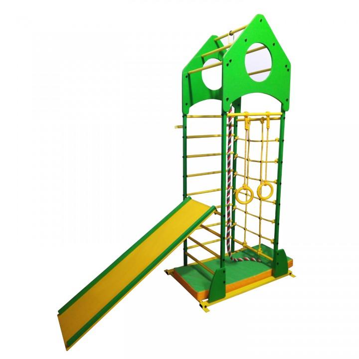 Детский спортивный комплекс Олимпик Ракета с сеткой и горкой
