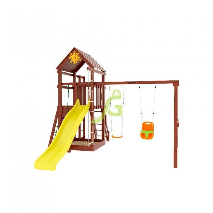 Детская игровая площадка IgraGrad Панда Фани Fort с сеткой