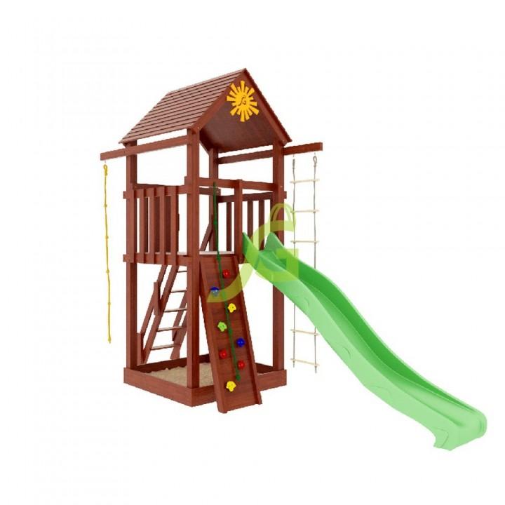 Детская игровая площадка IgraGrad Панда Фани Tower со скалодромом