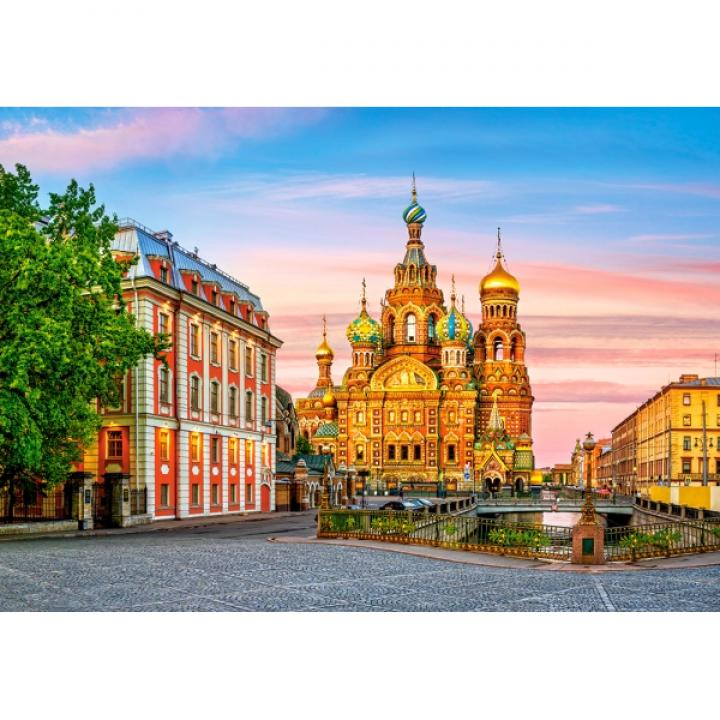 Пазл Храм в Санкт-Петербурге 500 деталей Castorland B-52257