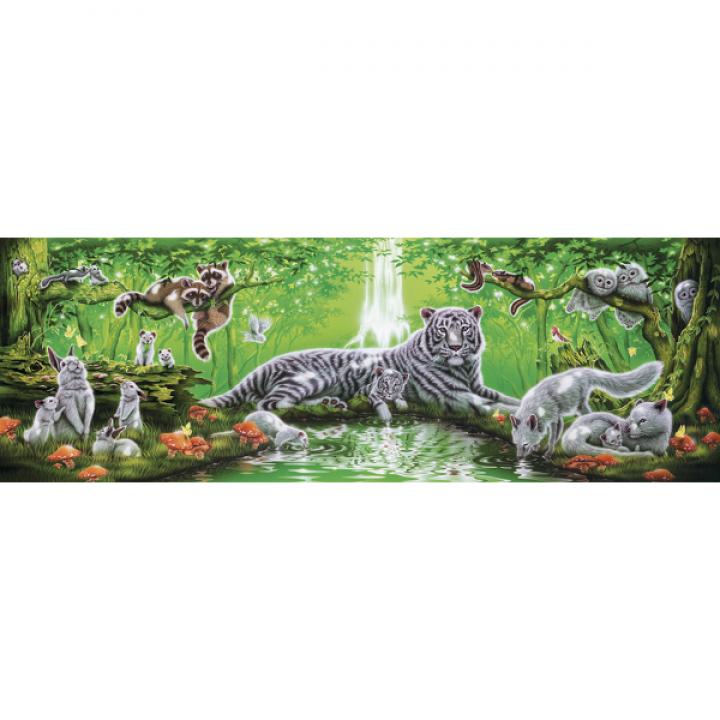 Пазл У водопада 1000 деталей Степ Пазл 79405