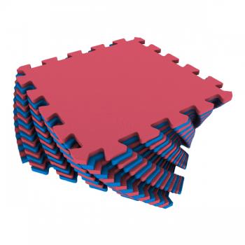Коврик-пазл Экополимеры красный-синий 25х25 16шт