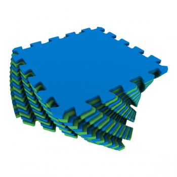 Коврик-пазл Экополимеры зеленый-синий 25х25 16шт