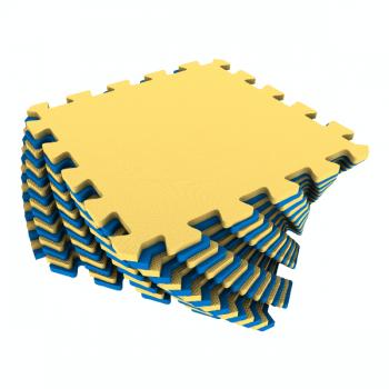 Коврик-пазл Экополимеры желтый-синий 25х25 16шт