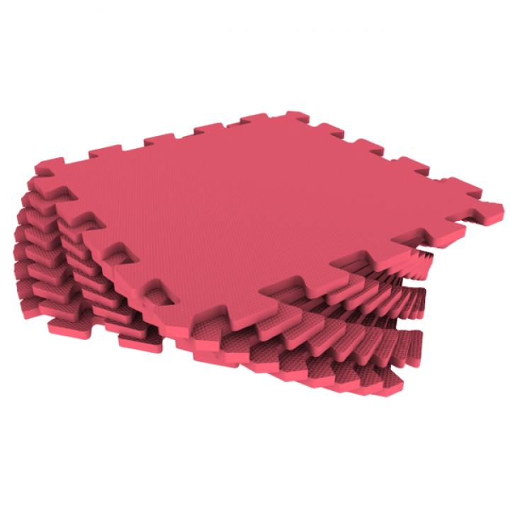 Модульное покрытие Экополимеры красный 33х33 9шт