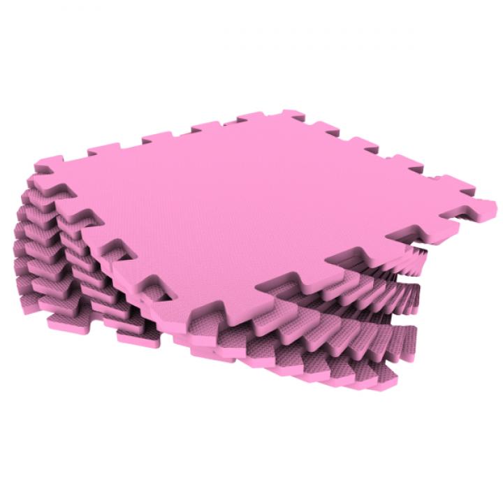 Модульное покрытие Экополимеры розовый 33х33 9шт