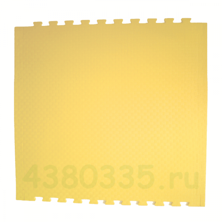 Модульное покрытие Экополимеры желтый 100х100 14 мм