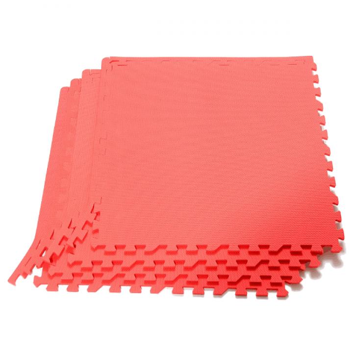 Модульное покрытие с кромками Экополимеры красный 60х60 4шт