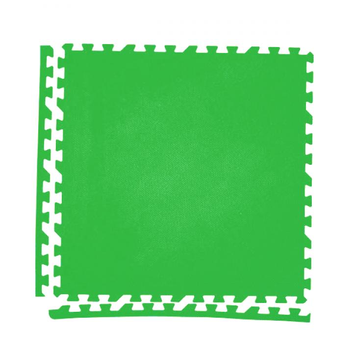 Модульное покрытие с кромками Экополимеры зеленый 60х60 4шт