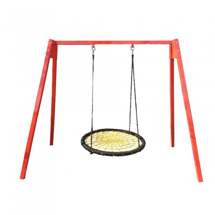 Уличные качели гнездо ХИТ 120 см на каркасе до 200 кг