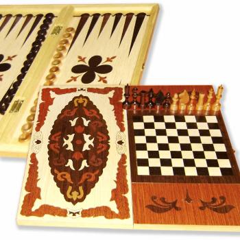 Игра 3 в 1 (нарды, шахматы, шашки) MPSport 02-58