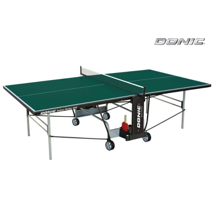 Теннисный стол для помещений DONIC INDOOR ROLLER 800 GREEN 230288-G