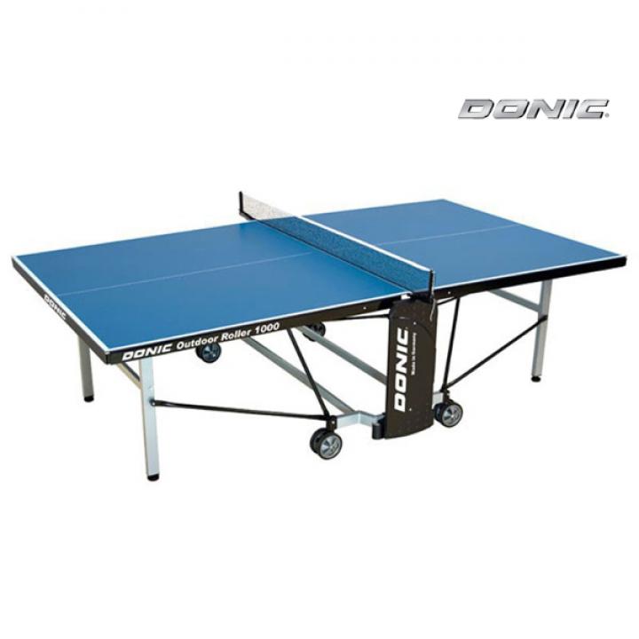 Теннисный стол всепогодный OUTDOOR ROLLER 1000 синий DONIC 230291-B