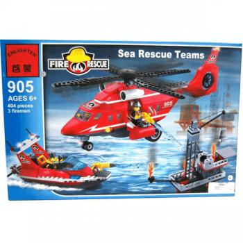 Конструктор Морская спасательная команда 404 детали Enlighten Brick 905*