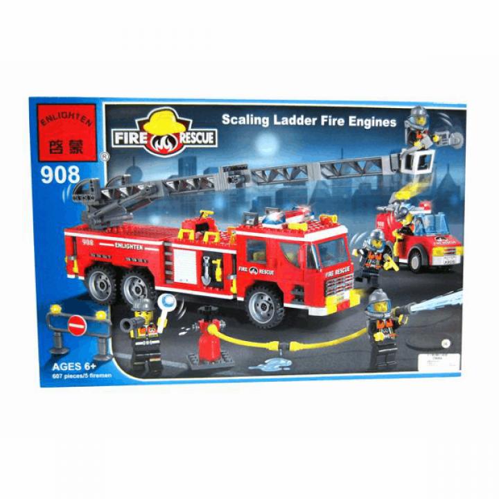 Конструктор Пожарная машина 607 деталей Enlighten Brick 908*