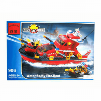 Конструктор Пожарный катер 339 деталей Enlighten Brick 906*