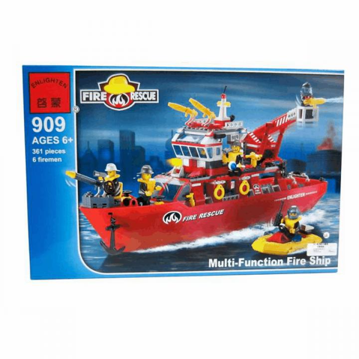 Конструктор Пожарный корабль 361 деталь Enlighten Brick 909*