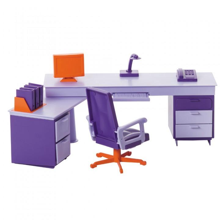 Кукольная мебель Мини офис Огонек С-1419