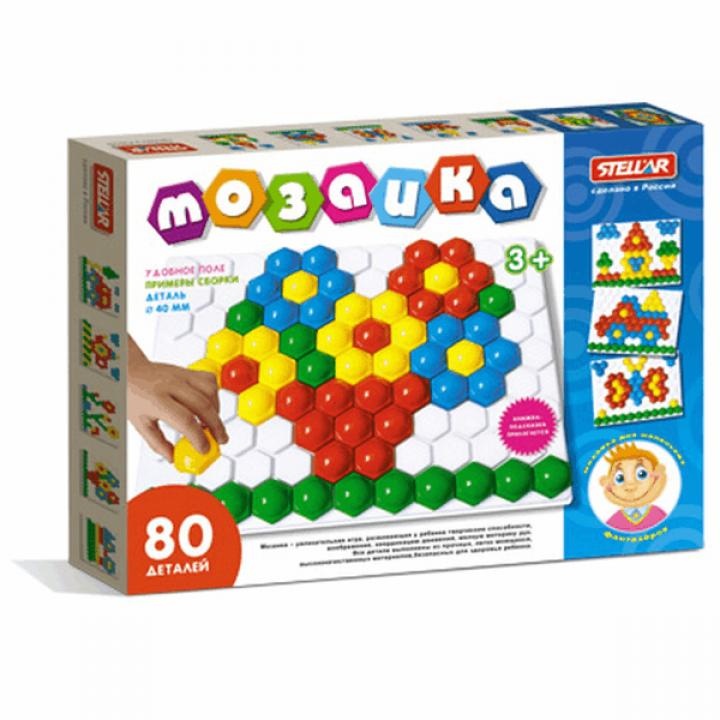 Мозаика детская 80 деталей Стеллар 01016