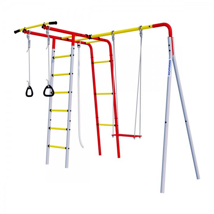 Детский спортивный комплекс для дачи ROMANA Лесная поляна-3 с фанерными качелями*