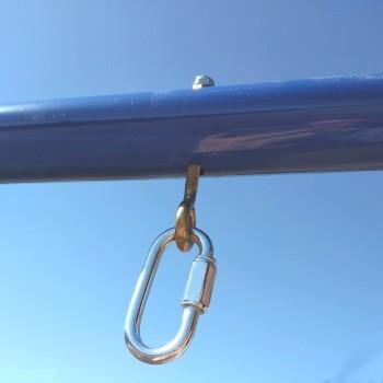 Болт с кольцом для подвеса и карабин винтовой 6 мм