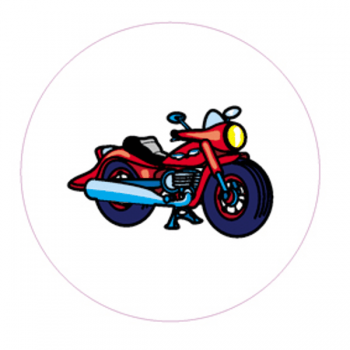 "Светоотражающий значок ""Мотоцикл"""